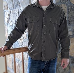 Cabela's men's stonewash canvas button up